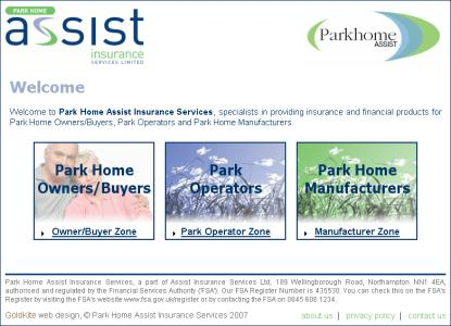 visit ParkHomeAssist.co.uk website